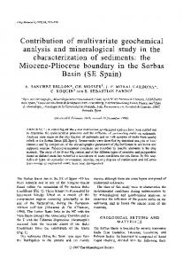 Contribution of multivariate geochemical analysis and mineralogical ...
