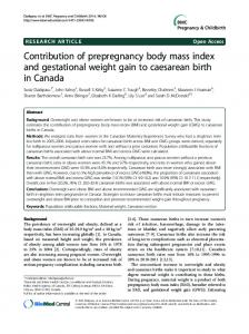 Contribution of prepregnancy body mass index and ... - BioMedSearch