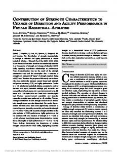 contribution of strength characteristics to change of ...