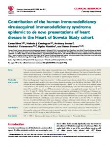 Contribution of the human immunodeficiency virus/acquired ...
