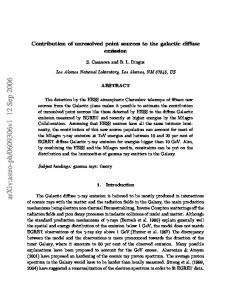 Contribution of unresolved point sources to the galactic diffuse emission