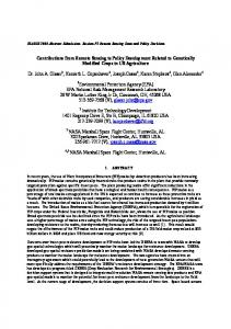 Contributions from Remote Sensing to Policy ...