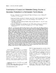 Contributions of coastal and watershed energy sources ... - Springer Link