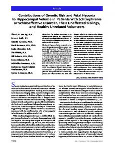 Contributions of Genetic Risk and Fetal Hypoxia to Hippocampal ...