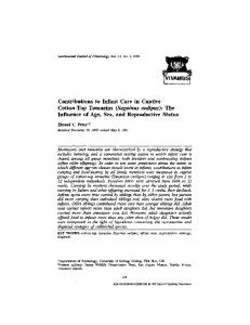 Contributions to infant care in captive cotton-top tamarins (Saguinus ...