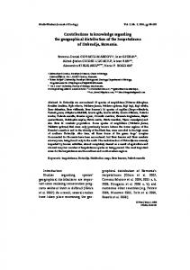 Contributions to knowlwedge regarding the geogrpahical ... - Lacerta.de