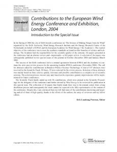 Contributions to the European Wind Energy Conference and ...