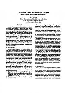 Contributory Group Key Agreement Protocols, Revisited for Mobile Ad ...