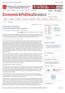 Contrived Confusions | Economic and Political Weekly