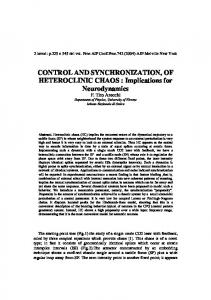 Control and synchronization of heteroclinic chaos ... - CiteSeerX