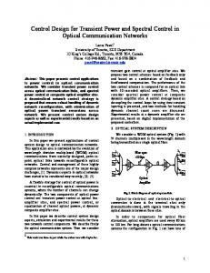 Control Design for Transient Power and Spectral Control ... - CiteSeerX
