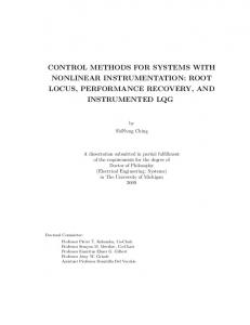 control methods for systems with nonlinear ... - Semantic Scholar