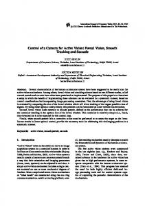 Control of a Camera for Active Vision: Foveal Vision ... - CiteSeerX