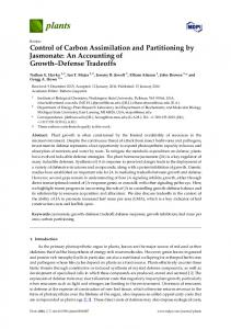 Control of Carbon Assimilation and Partitioning by ... - Semantic Scholar