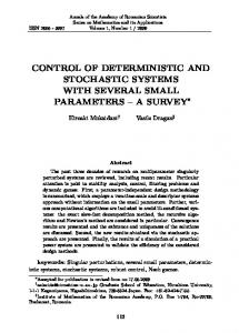 control of deterministic and stochastic systems with several small ...