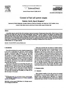 Control of fuel cell power output - CiteSeerX