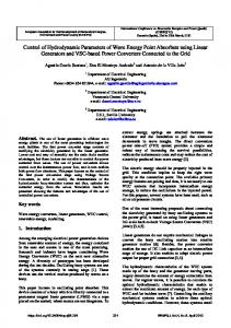 Control of Hydrodynamic Parameters of Wave Energy Point ... - icrepq