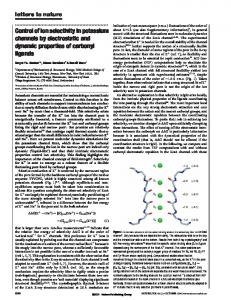 Control of ion selectivity in potassium channels by electrostatic ... - Calis