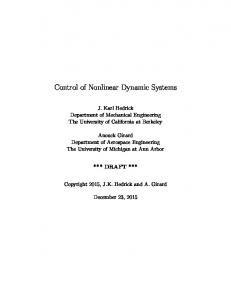 Control of Nonlinear Dynamic Systems