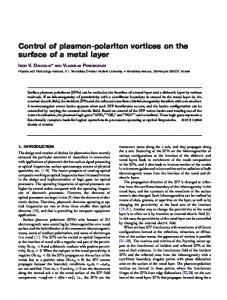 Control of plasmon-polariton vortices on the surface of