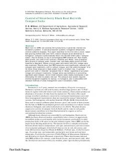 Control of Strawberry Black Root Rot with Compost ... - APS Journals