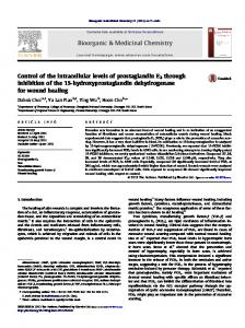Control of the intracellular levels of prostaglandin E2 through ... - Core