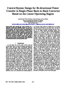 Control System Design for Bi-Directional Power Transfer ... - IEEE Xplore