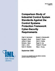 Control Systems Security Center Comparison Study of Industrial ...