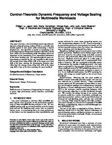 Control-Theoretic Dynamic Frequency and Voltage ... - CiteSeerX