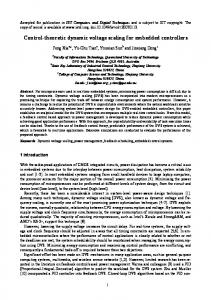 Control-theoretic dynamic voltage scaling for