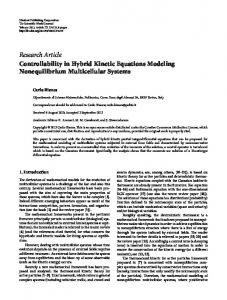 Controllability in Hybrid Kinetic Equations Modeling Nonequilibrium ...