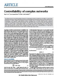 Controllability of complex networks