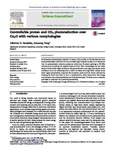 Controllable proton and CO2 photoreduction over