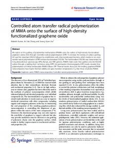 Controlled atom transfer radical polymerization of MMA onto the ... - Core