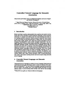 Controlled Natural Language for Semantic