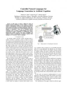 Controlled Natural Languages for Language Generation ... - RoboHow