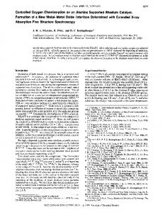 Controlled Oxygen Chemisorption on an Alumina Supported Rhodium ...