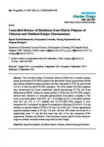 Controlled Release of Diclofenac from Matrix Polymer of ... - MDPI