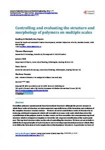 Controlling and evaluating the structure and ...
