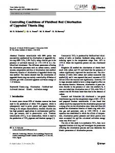 Controlling Conditions of Fluidized Bed Chlorination