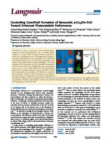 Controlling Core/Shell Formation of Nanocubic p ... - ACS Publications