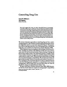 Controlling Drug Use - SAGE Journals - Sage Publications