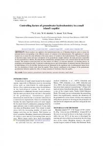 Controlling factors of groundwater hydrochemistry in a