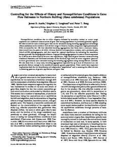 Controlling for the Effects of History and ... - Semantic Scholar