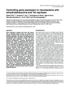 Controlling gene expression in mycobacteria with anhydrotetracycline ...