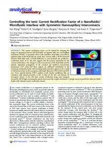 Controlling the Ionic Current Rectification Factor of a Nanofluidic ...