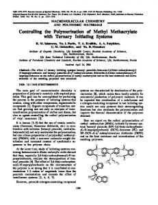 Controlling the polymerization of methyl methacrylate ... - Springer Link