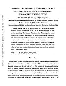 Controlling the Spin Polarization of the Electron Current in a ...