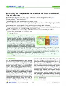 Controlling the Temperature and Speed of the ... - ACS Publications