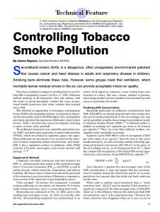 Controlling Tobacco Smoke Pollution - Tobacco Free Air